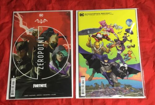 BATMAN FORTNITE ZERO POINT #1~1st PRINT~COVER A+B SET~FACTORY SEALED w/ CODE~DC