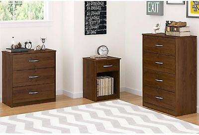كومودينو جديد 3-4 Drawer Dresser Nightstand Chest Storage Bedroom Wood Furniture Multi-Colors