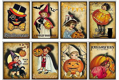 8 Primitive Halloween ATC Cards Hang Tags - Scrapbooking, Paper Crafts (51)](Halloween Atcs)