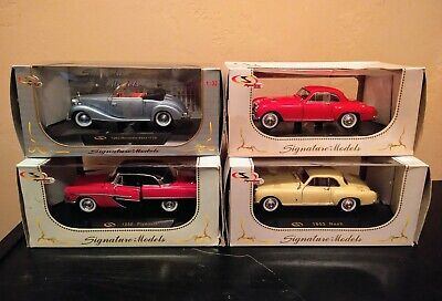 Lot of 4 Signature Models 1950s Classic Cars 1:32 scale