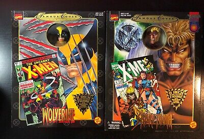 Sabretooth Cover (X-MEN SABERTOOTH + WOLVERINE MARVEL FAMOUS COVER SERIES 8 INCH FIGURE LOT SET)