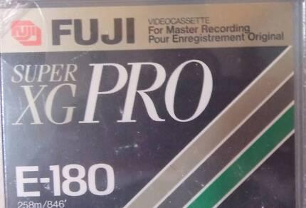 FUJI VHS SUPER XG PRO MASTER RECORDING TAPES E-180