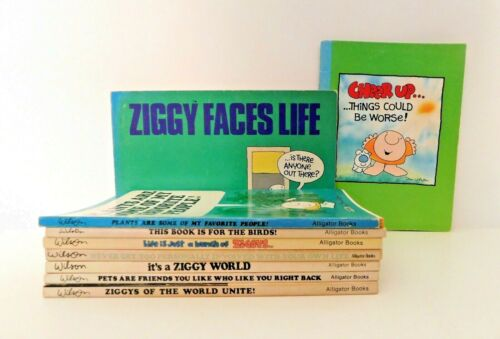 Ziggy Books Set of 9 Favorite Comic Strips by Tom Wilson Paperback