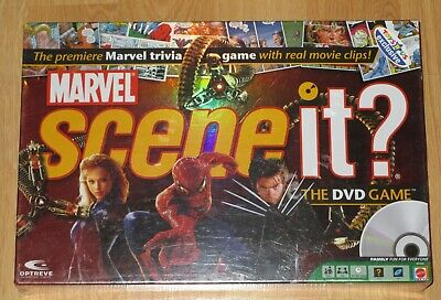 Marvel Scene It DVD Board Game New Sealed Toys R US Exclusive 2007 Edition Marvel Scene It