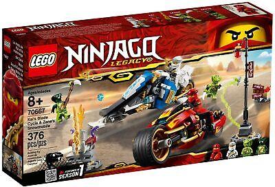 Lego Ninjago Kai's Blade Cycle & Zane's Snowmobile 70667 (2019) (Minor Box Wear)