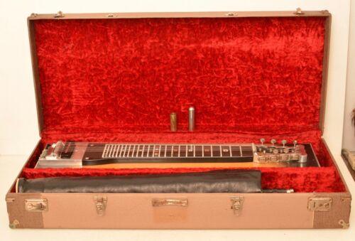 Vintage Marlen Steel Lap Guitar 8 String 5 Pedal Case Stand Complete With Slide