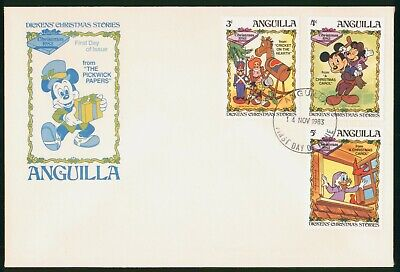 Mayfairstamps Anguilla FDC 1983 Mickey Mouse Christmas Combo First Day Cover wwo