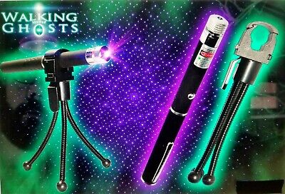 3 Pc Paranormal Equipment Purpleuv Laser Grid Pen With 5 Tripod And Holder