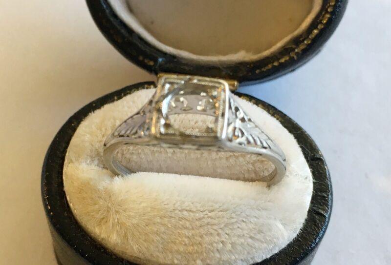 Antique Art Deco Platinum Ring Mounting
