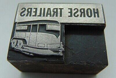 Vintage Printing Letterpress Printers Block Horse Trailers