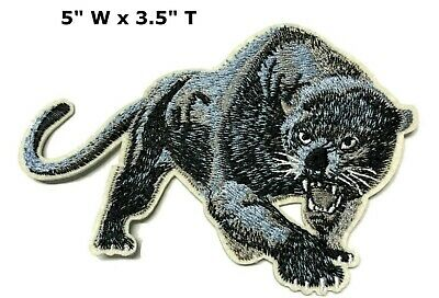 Black Panther Embroidered Patch Iron-On or Sew-on Decorative Applique