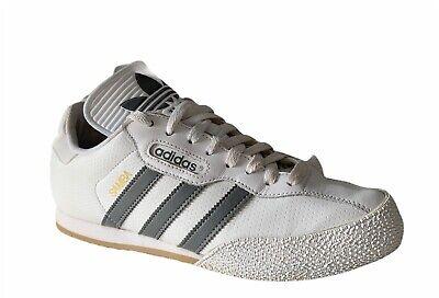 ADIDAS Samba Super Trainers Size 8 White Leather