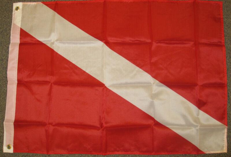 2X3 DIVER DOWN FLAG SCUBA DIVING FLAGS PADI NEW F314