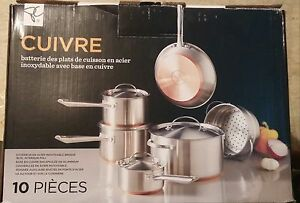 Copper base stainless steel 10 peices cookware set