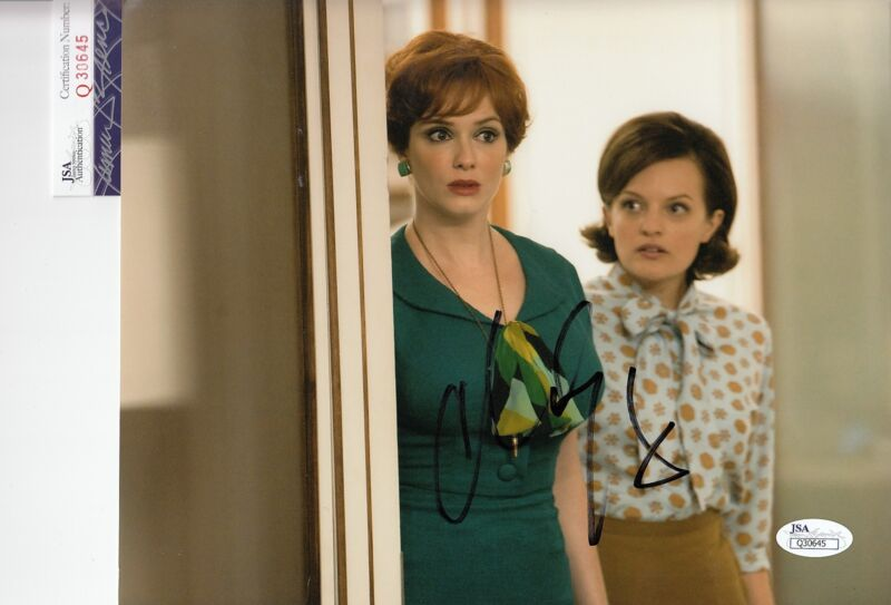 Christina Hendricks signed *Mad Men* Joan 8x10 photo autographed JSA COA Q30645