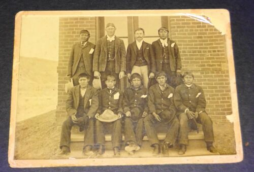 1880s Cabinet Image of Cheyenne Men in Suits  by Dave Rodocker