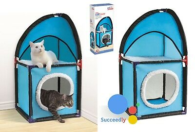Cat Tower Tree Post Scratching Activity Climbing Kitten Centre Toy Play House