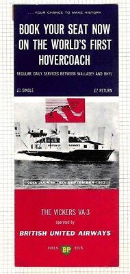 BC288 1960s GB *British United Airways* Hovercraft Service Advertising Booklet