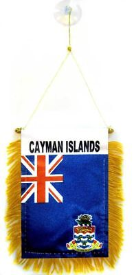 Cayman Islands MINI BANNER FLAG GREAT FOR CAR & HOME MIRROR HANGING 2 SIDED (FI) (Islands Flag Mini)