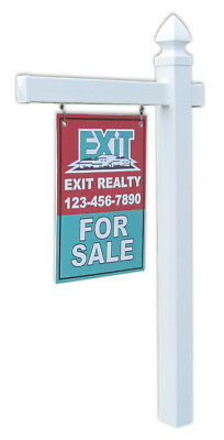 Economy Real Estate Yard Sign Post And Stake Gothic Cap Style - 5 Feet W 36 Arm