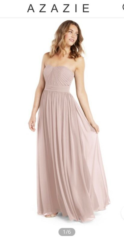 Azazie Milagros Bridesmaid Dress Dusty Rose Size A0/A2