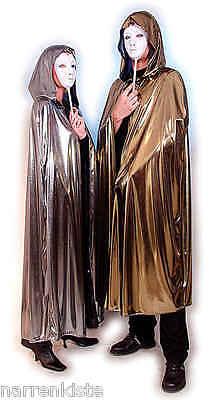 Umhang mit Kaputze Cape Kostüm Dracula Vampir gold silber Venezia Venezianischer