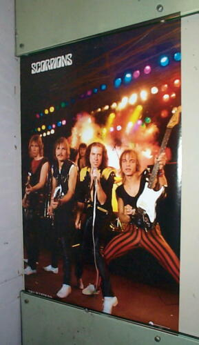 SCORPIONS Vintage West Germany Poster