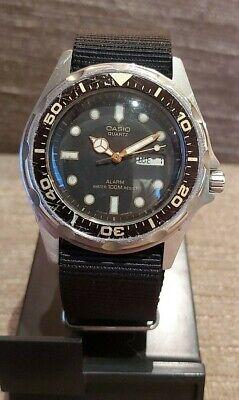 Vintage Mens Casio Diver Ani-Digi Watch - MMA 200W - New battery/strap. GWO