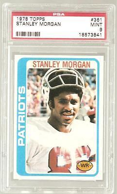 1978 Topps  361 Stanley Morgan Rc Psa 9 Mint