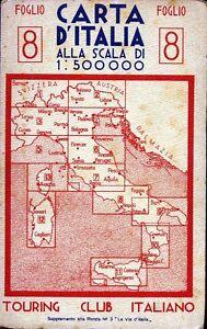 CARTA-D-039-ITALIA-ALLA-SCALA-DI-1-500-000-FOGLIO-8-ANNO-1941-CENTRO-MERID-LE