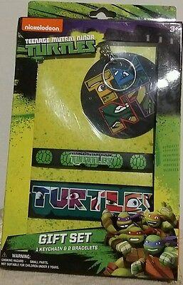 Teenage Mutant Ninja Turtles Keychain & Wrist Bands Birthday Gift Set 4+