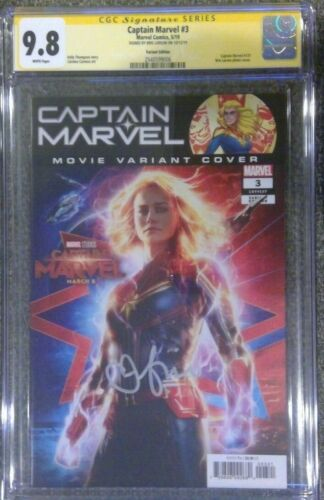 Captain Marvel #3 photo cover variant__CGC 9.8 SS__Signed by Brie Larson
