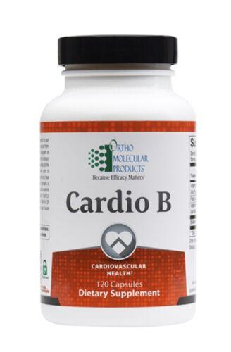 Ortho Molecular Cardio B 120 Capsules Exp. 4/22 FRESH & FAST