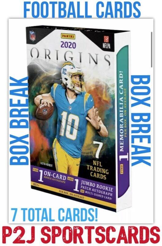 2020 PANINI ORIGINS FOOTBALL CARD HOBBY Box BREAK 1 RANDOM TEAM Break 3869