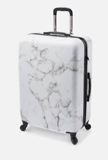 Marble checked suitcase