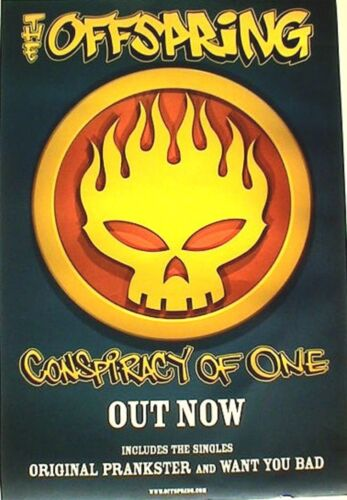 """OFFSPRING """"CONSPIRACY OF ONE-OUT NOW, INCL. ORIGINAL PRANKSTER"""" UK PROMO POSTER"""