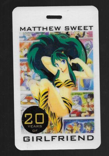 MATTHEW SWEET RARE 2011 20 YEARS of GIRLFRIEND LAMINATE BACKSTAGE PASS