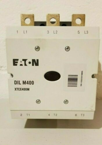 USED EATON DIL M400 / DILM 400   XTCE400M Contactor 250v-500v coil 40-60hz