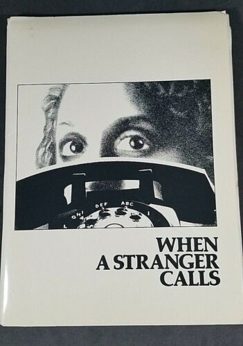 Movie Press Kit - When a Stranger Calls - HORROR CLASSIC Columbia 1979  MrSTUFF