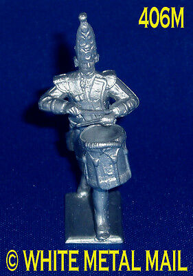 Prussian Casting 406M 1:32 Scale Prussian Drummer Advancing Wearing Mitre