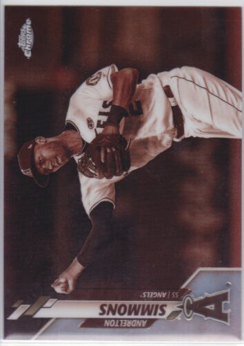 2020 TOPPS CHROME MLB LA ANGELS ANDRELTON SIMMONS SEPIA REFRACTOR NO. 29