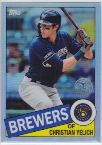 2020 TOPPS CHROME MLB BREWERS CHRISTIAN YELICH 35TH ANNIVERSARY REFRACTOR 1985