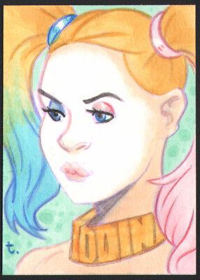 """ Harley Quinn"" from ""Batman "" Sketch card by Artist Turtle Original Art"