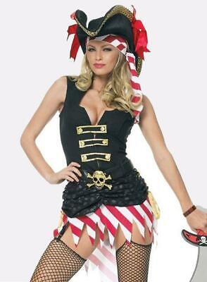Leg Avenue Captain Marauder Womens Pirate Fancy Dress Costume 83351](Marauder Pirate)