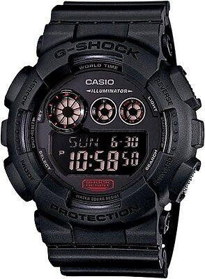 Casio G Shock Matte Black Military Resin Sports Digital Backlit Watch GD120MB-1