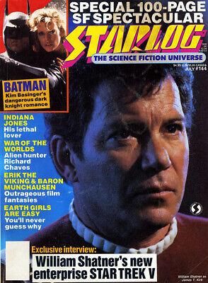 STARLOG Magazine #144 Jul.1989 Science Fiction Media Full-Color Photos Articles ()