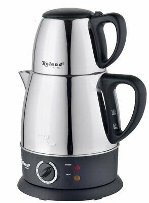 Roland türkischer Teekocher elektrischer Tee- und Wasserkocher 1,8 / 0,7 Liter