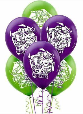Ninja Turtle Party Supply ((6ct) Mutant Ninja Turtle Birthday Latex Balloons Party Supplies)