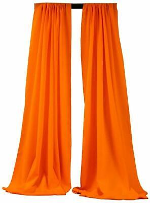 Neon Orange Curtains (10 x 5 Ft Neon Orange Curtain Polyester Poplin Backdrop Drapes Panels (1 Pair))