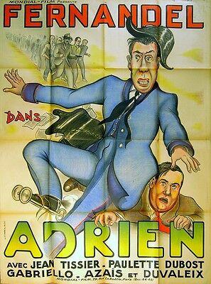 ADRIEN 1943 Fernandel, Paulette Dubost, Huguette Vivier Roller Skates FRENCH